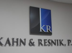 Kahn & Renick Interior Lettering