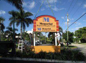 Memorial Hospital Monument