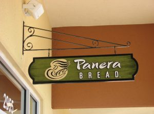 Panera Bread Hanging Sign