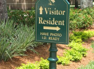Gate Entrance Sign