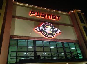 Planet Dodge Channel Lettering