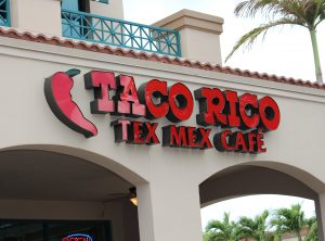 Taco Rico Channel Letters