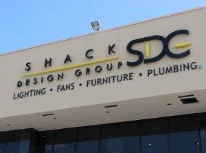 Shack Design Exterior Letters