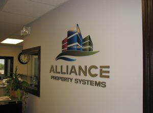 Alliance Wall Lettering