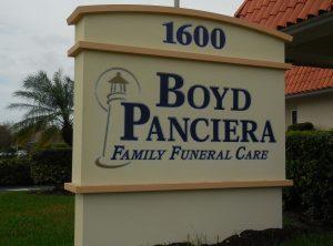Boyd Panciera Monument Sign