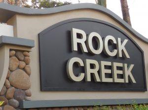 Rock Creek Entrance Sign