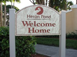 Heron Sandblasted Sign