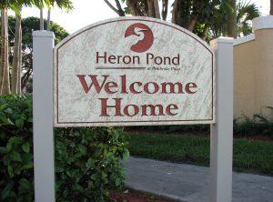 Heron Sandblasted Sign
