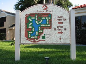 Heron Pond Sandblasted Sign