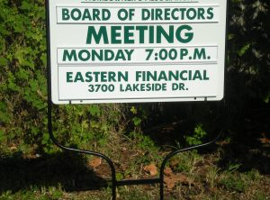 Board Meeting Sign