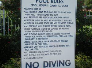 Pool Rule Sign