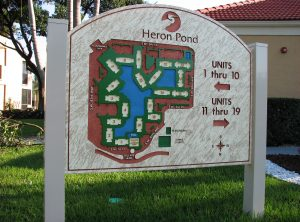 Heron Pond Sandblasted Map