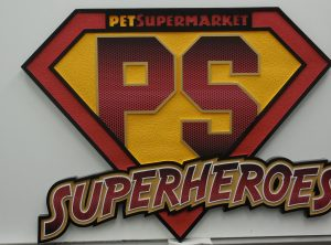 Pet Supermarket Sandblasted Sign