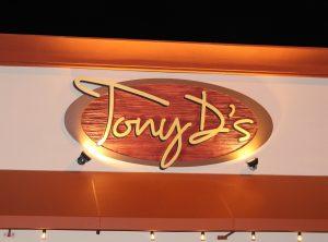Tony D's Sandblasted Wall Sign