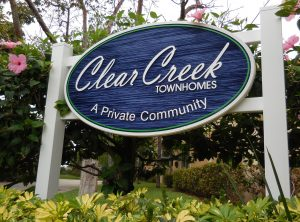 Clear Creek Entrance Sign
