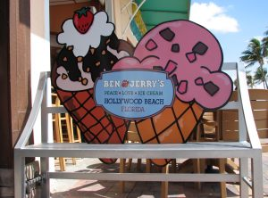 Ben and Jerry's Bench